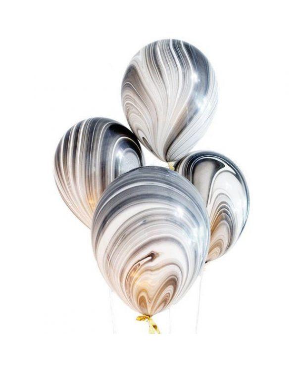 Воздушные шары Агат Black White