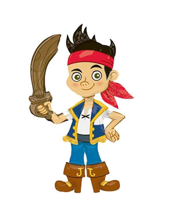 Ходячая фигура из фольги  Джейк пират