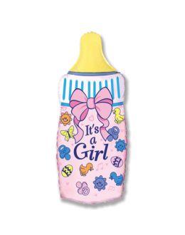 Шар Бутылочка для девочки