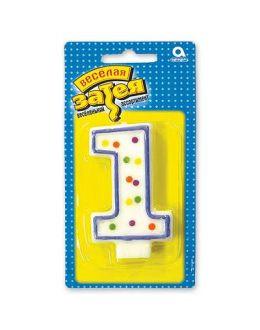 """Свеча -цифра """"1"""""""