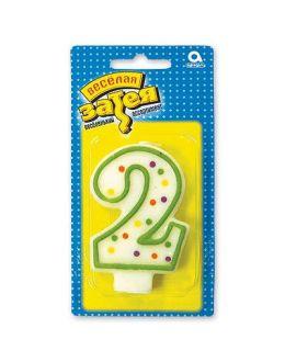 """Свеча -цифра """"2"""""""
