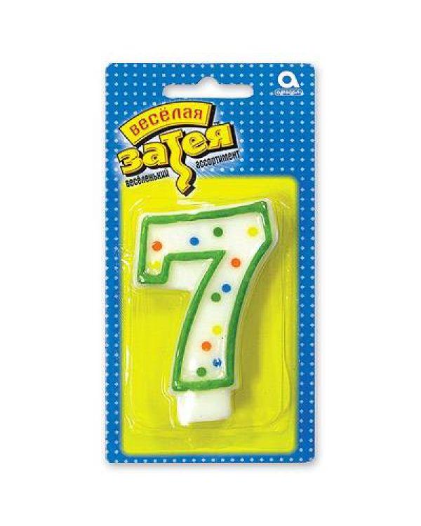 """Свеча -цифра """"7"""""""