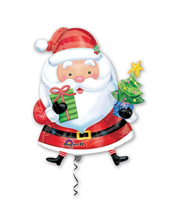 Фигура из фольги Санта с елкой