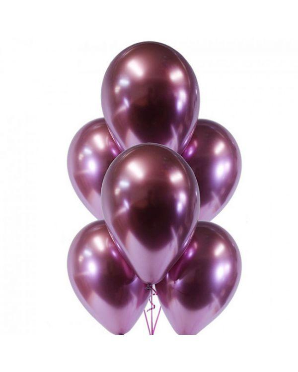 Воздушные шары Хром Розовый